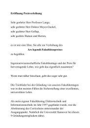 Eröffnung Preisverleihung Sehr geehrter Herr Professor ... - 4Ing