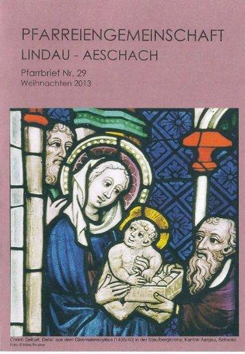 Weihnachten 2014 - Pfarreiengemeinschaft Lindau-Aeschach
