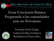 Crear Conciencia Sismica: Preparando a las comunidades ante un ...