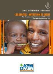 L'ESSENTIEL NUTRITION ET SANTÉ - Action Against Hunger