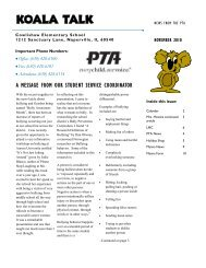 Koala Talk: November 2010 - Cowlishaw Elementary School