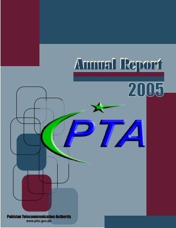 Annual Report 2005 - Pakistan Telecommunication Authority
