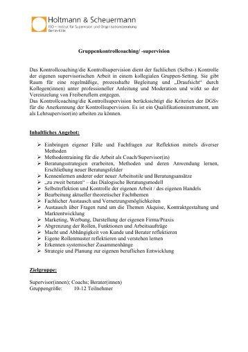 Ausschreibung Kontrollcoaching 2011 - HOLTMANN ...