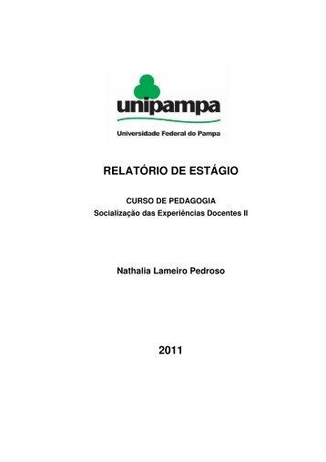 RELATÓRIO DE ESTÁGIO 2011 - UNIPAMPA Cursos