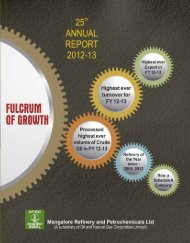 Annual Report for 2012-13 - Mangalore Refinery and ...
