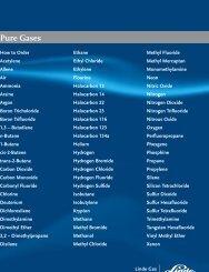 Pure Gases catalog - Linde Premium Products