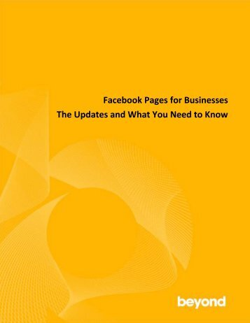 Facebook Pages for Businesses The Updates and What You Need ...