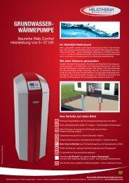 GRUNDWASSER- WÄRMEPUMPE - AKK GmbH Kramer AKK ...