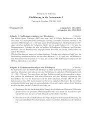 Einführung in die Astronomie I - AIP