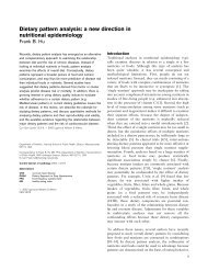 Dietary pattern analysis: a new direction in nutritional epidemiology