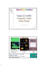 Topics in CADD: Computer Aided Drug Design - Bioinformatics and ...