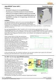 digitalstrom®--Server dss11 Produktinformation - aizo