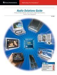 Audio Solutions Guide, 1Q 2007