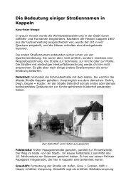 Die Bedeutung einiger Straßennamen in Kappeln - Stadt Kappeln