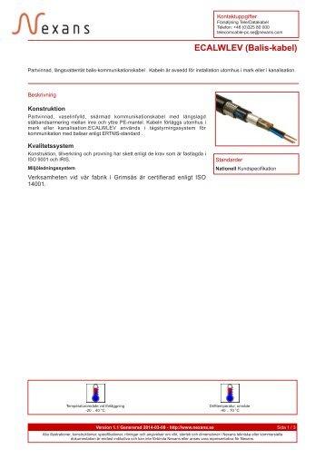 ECALWLEV (Balis-kabel) - Nexans