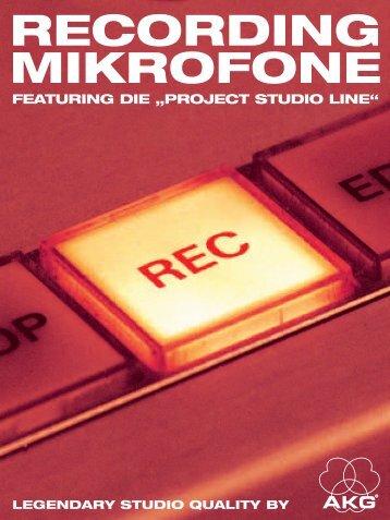 klassische recording mikrofone die - AKG
