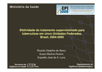 Efetividade do tratamento supervisionado para ... - Epi2008