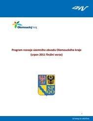 Program rozvoje územního obvodu Olomouckého ... - Olomoucký kraj