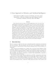 A Java Approach to Robotics and Artificial Intelligence - Center for ...