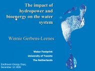 The water footprint - Eindhoven University of Technology