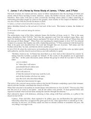 A Verse by Verse Study of James, 1 Peter, and 2 ... - Gospel Lessons