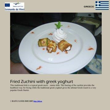 Fried Zuchini with greek yoghurt