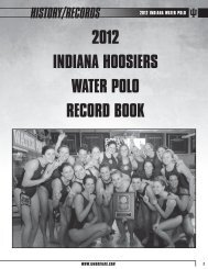 2012 indiana Water polo HISTORY/RECORDS - Community