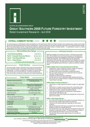 great southern 2008 future forestry investment