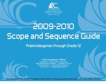 2009-10 Scope and Sequence - Cleveland Metropolitan School ...