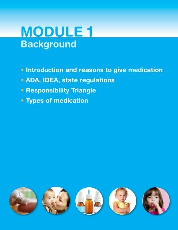 Module 1: Background - Healthy Child Care America