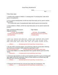 34+ Fiscal policy worksheet answer key Live