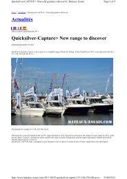 Actualités Quicksilver-Capture> New range to ... - Brunswick Marine