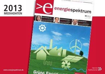 Mediadaten 2013 - Energiespektrum