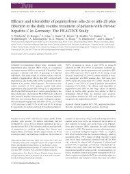 Efficacy and tolerability of peginterferon alfa-2a or alfa-2b plus ... - bng