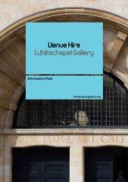 Venue Hire Whitechapel Gallery