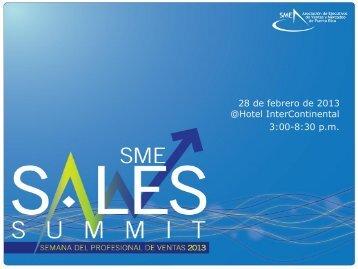 Propuesta SME Sales Summit. - Asociación de Ejecutivos de Ventas ...