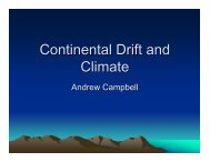 Andrew's Continental Drift and Climate Slides