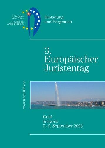 Dritten Europäischen Juristentag