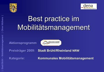Best practice im Mobilitätsmanagement