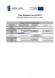 Plan działania na rok 2013 - Strona Departamentu Europejskiego ...