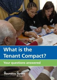 What is the Tenant Compact? - Hounslow Homes