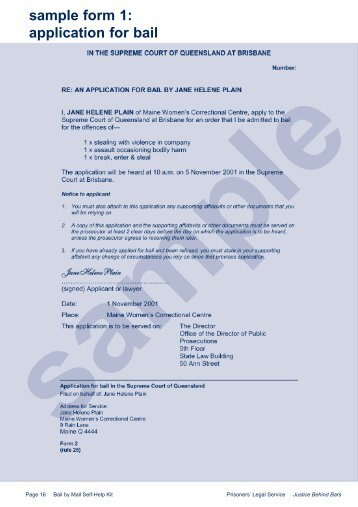 Sample 2 – Affidavit – Magistrates Court of Queensland - Legal ...