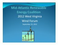 2012 West Virginia Wind Forum - West Virginia Department of ...