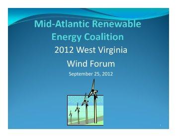 2012 West Virginia Wind Forum - West Virginia Department of ...