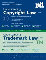 Understanding Copyright & Trademark Law 2007 - Reed Smith