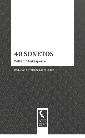 William Shakespeare 40 SONETOS - tradutoresgalegos.com
