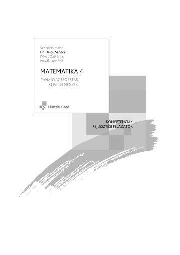 Matematika 4. Tanmenet