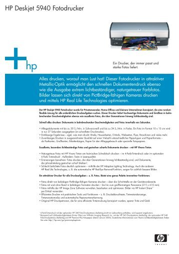 HP Deskjet 5940 Fotodrucker