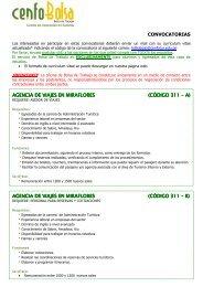 CONVOCATORIAS AGENCIA DE VIAJES EN AGENCIA ... - Cenfotur