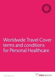 Worldwide Travel Cover terms and conditions for ... - PruHealth